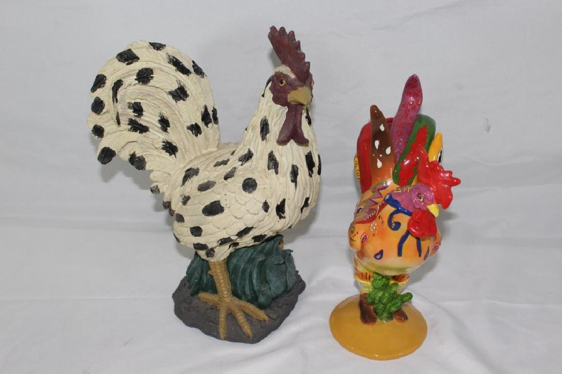 Pair of Decoartive Roosters
