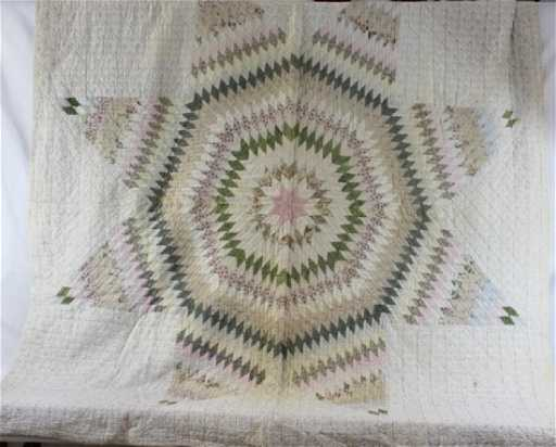 Early Handmade Star Of Texas Quilt