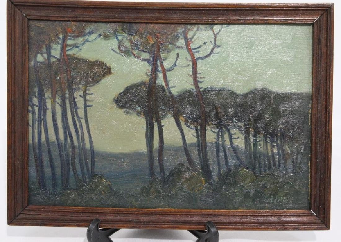Small Oil Painting - California Treeline
