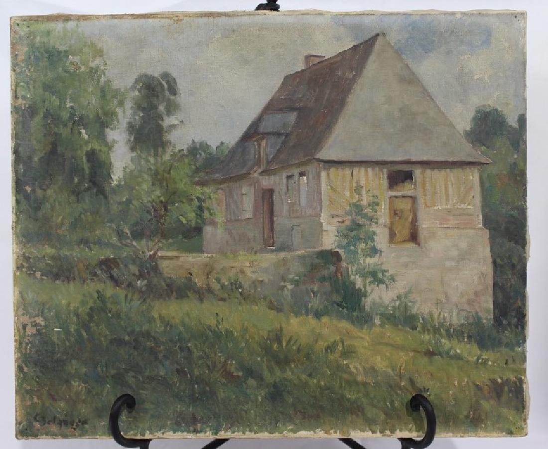 Oil on Canvas - European Countryside - French?