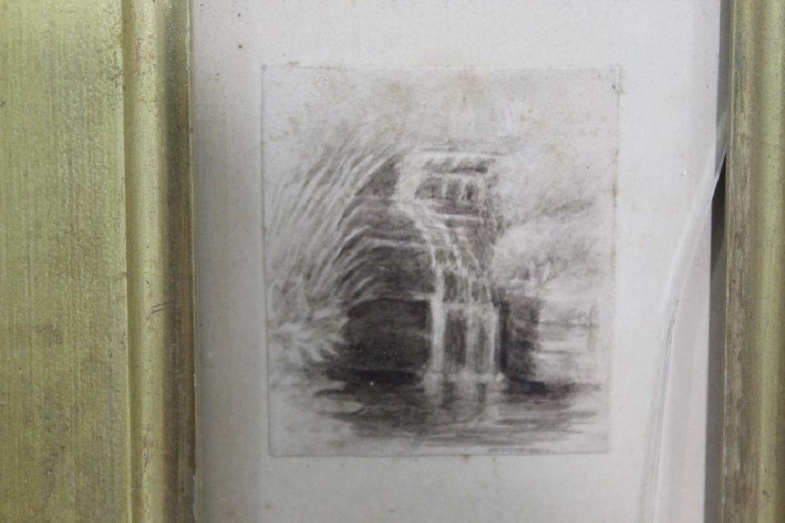 Unsigned Ink Sketch - Catskills c.1860s - 2