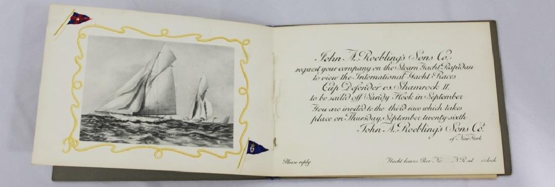 Rare - 1901 America's Cup Invitation John Roebling - 2