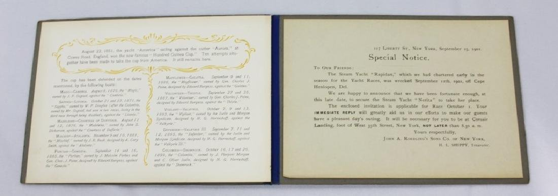 Rare - 1901 America's Cup Invitation John Roebling - 3