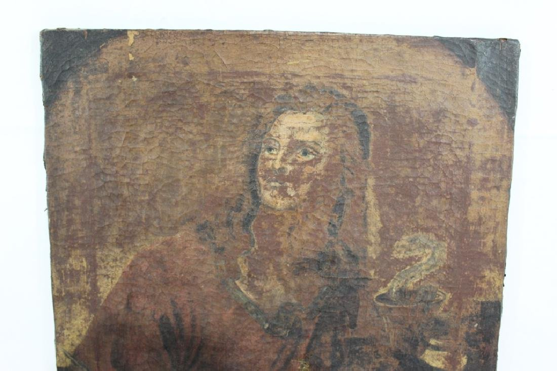 Very Old Oil on Canvas Painting unsigned - 2