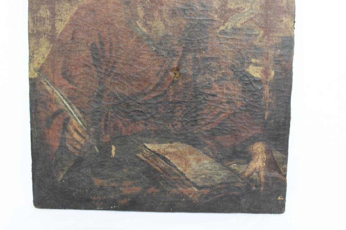 Very Old Oil on Canvas Painting unsigned - 3