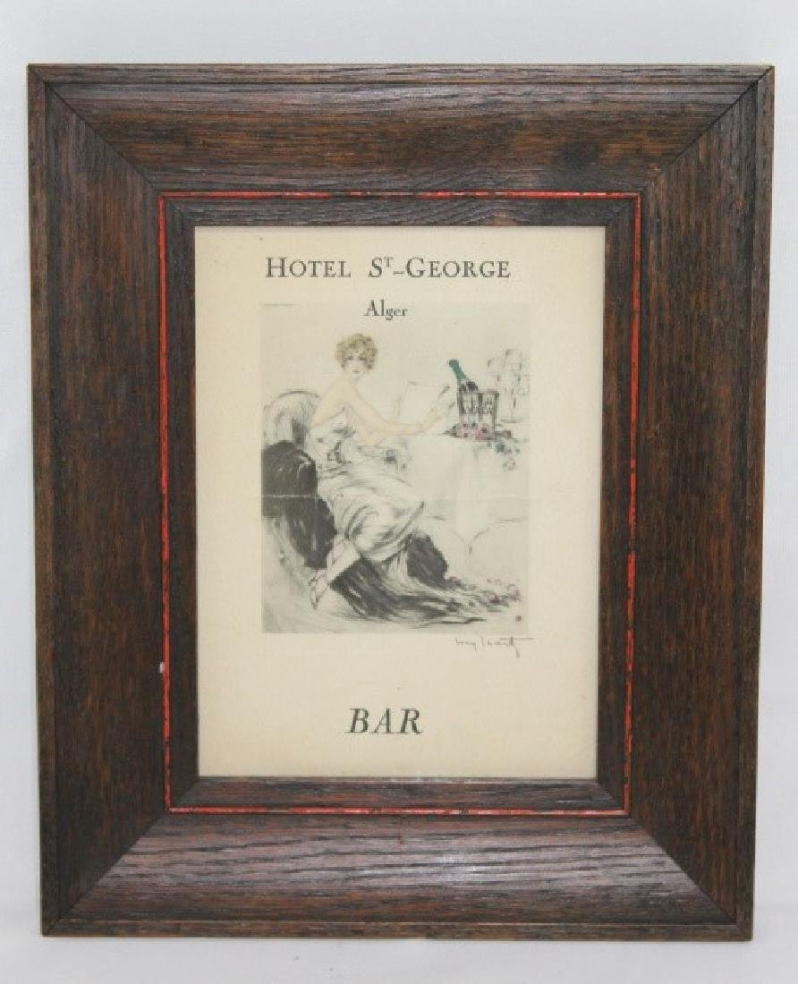 Louis Icart Litho Menu for Hotel St. George