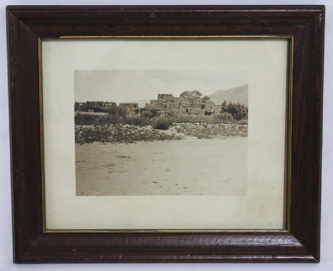 Early Photograph of Taos Pueblo N. Mexico