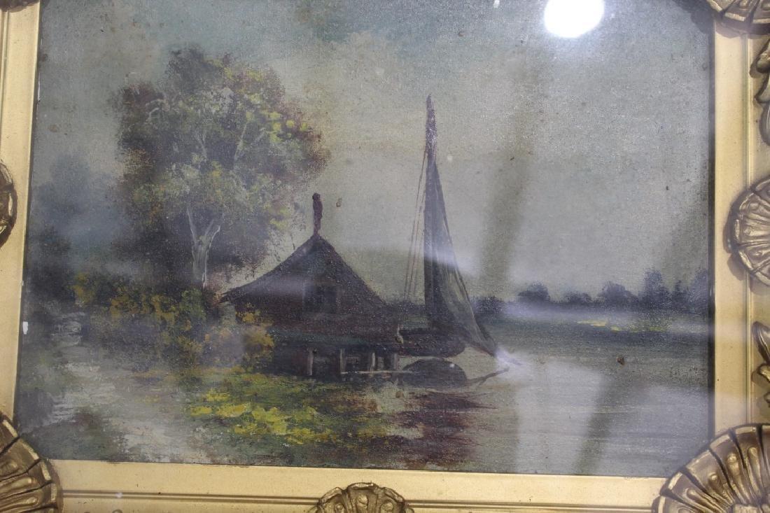 Shadow Box Framed Oil on Canvas - 2