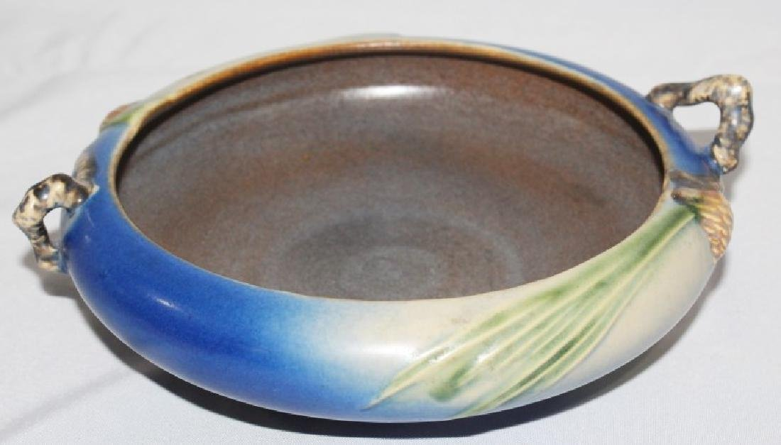 Roseville Pine Cone Double Handle Bowl - 3
