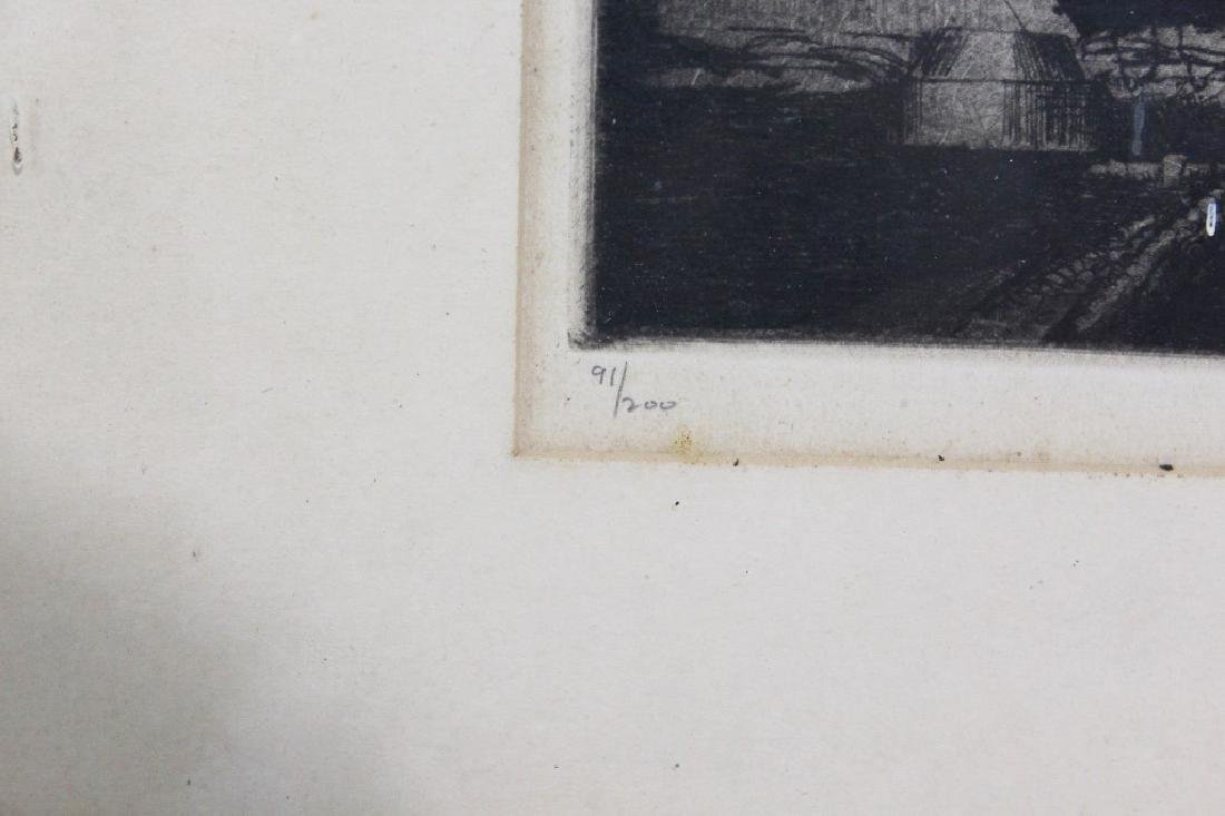 James Swann Etching - Naval Scene - 2