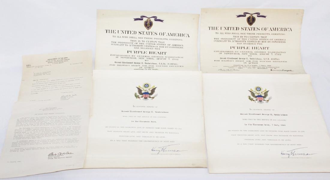 Purple Heart Certificate with Letter and Correction