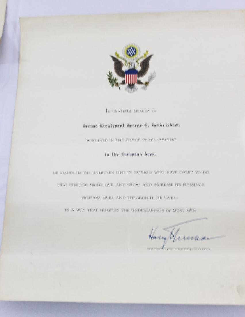 Purple Heart Certificate with Letter and Correction - 4