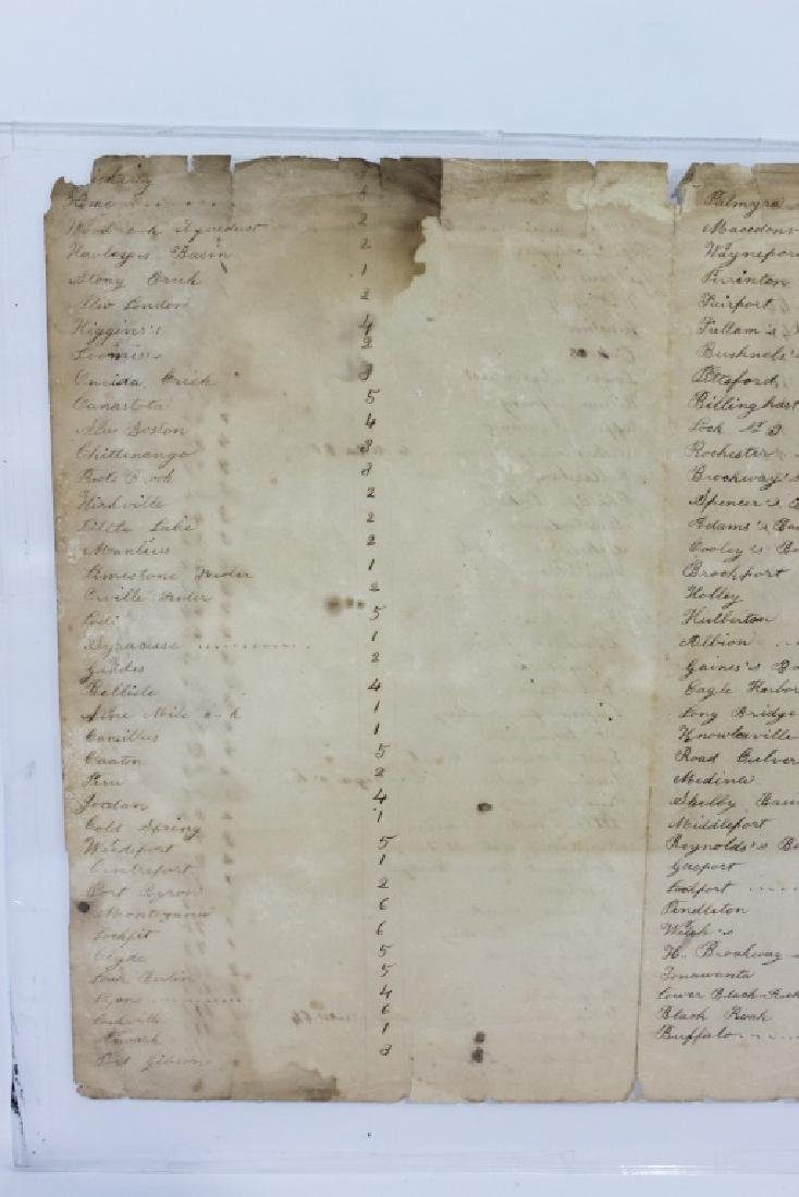 Historic Document - Erie Canal - Genessee Canal - - 5