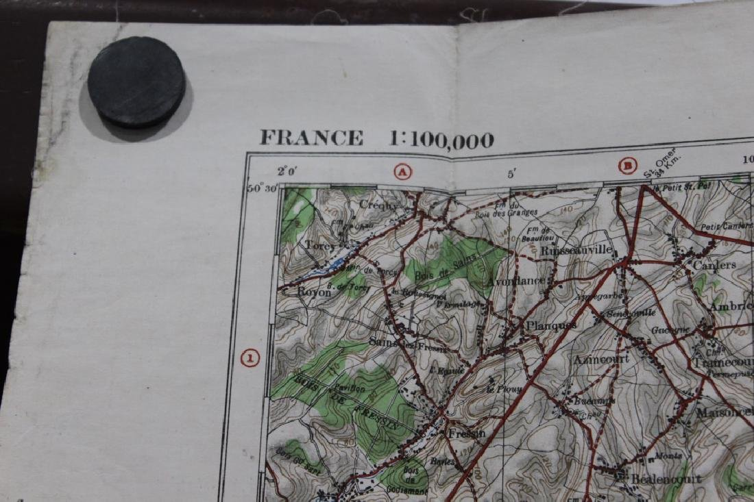 WW1 - France Trench Map - 7