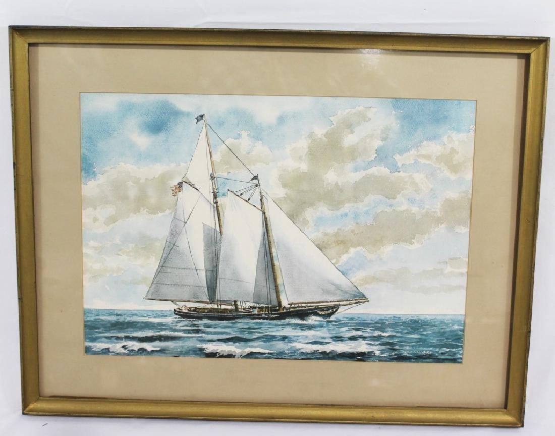 Paul H. Norton Print - Schooner Yacht America