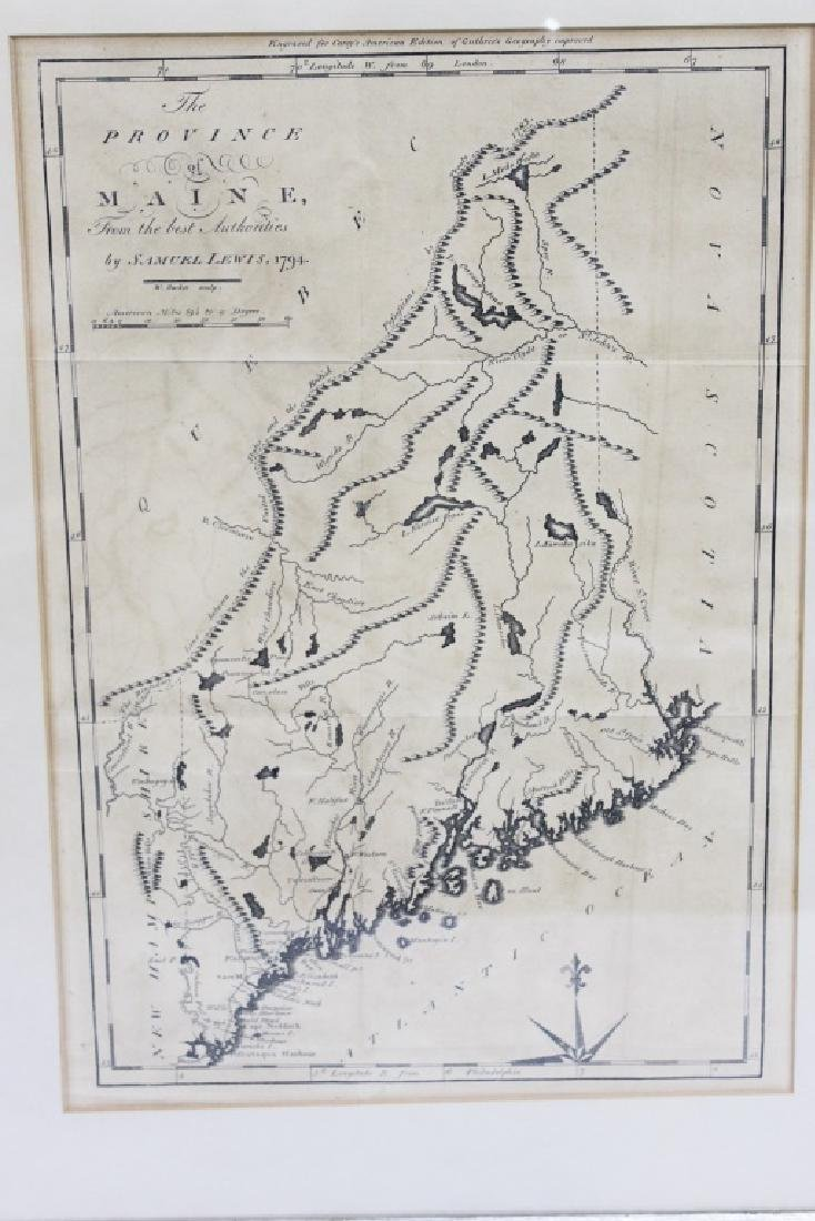 Antique Map - The Province of Maine c. 1795-96 - 2