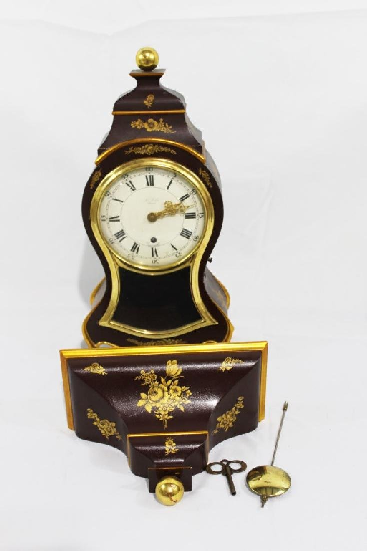 1940s Zenith LeLocle Mantle Clock with Shelf