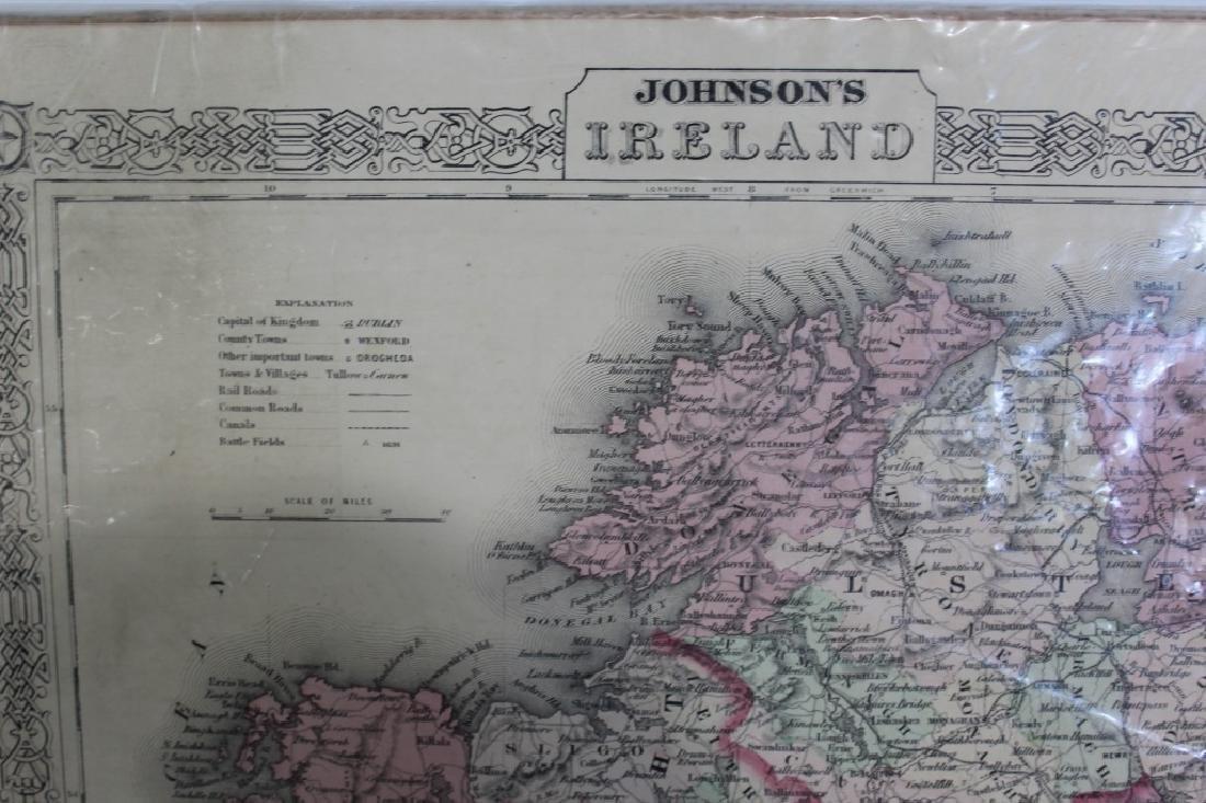 1866 Map of Ireland - A.J. Johnson New York - 2