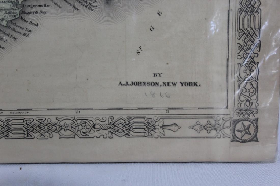 1866 Map of Ireland - A.J. Johnson New York - 3