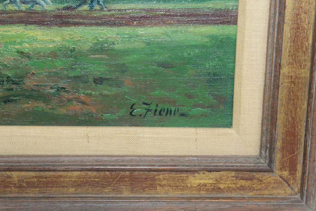 Ernest Fiene Signed Oil on Canvas - Mountain Farm Scene - 3