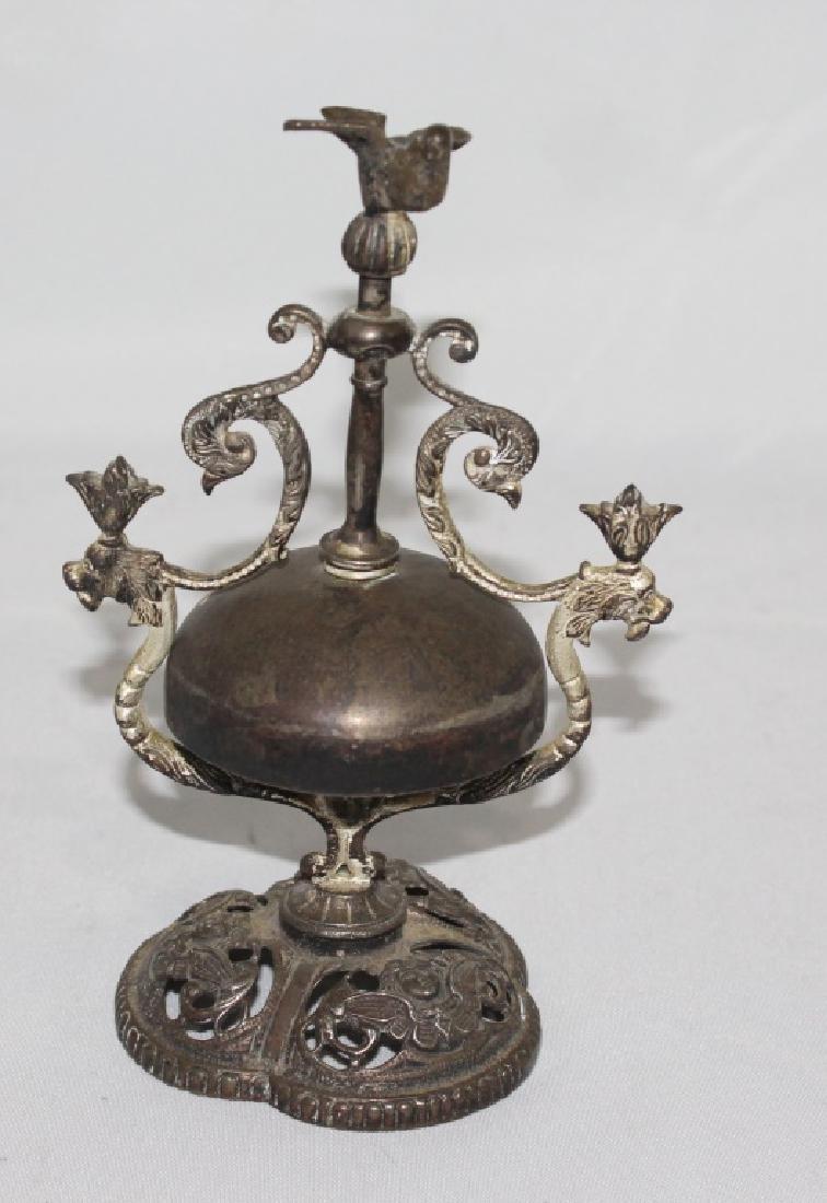 Antique hotel desk Bell Twist with Bird