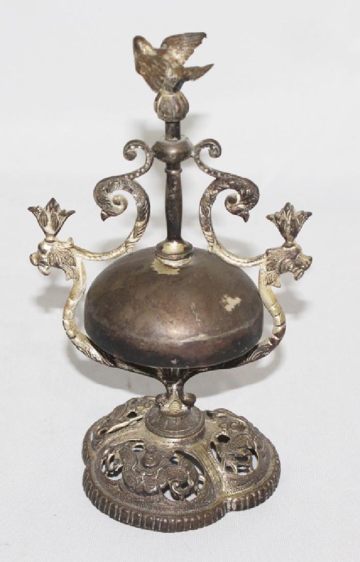 Antique hotel desk Bell Twist with Bird - 4