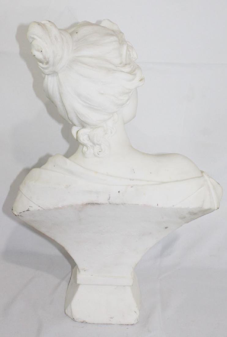 A. Piazza Carrara Signed Marble Bust of Lady - Lucrece - 5