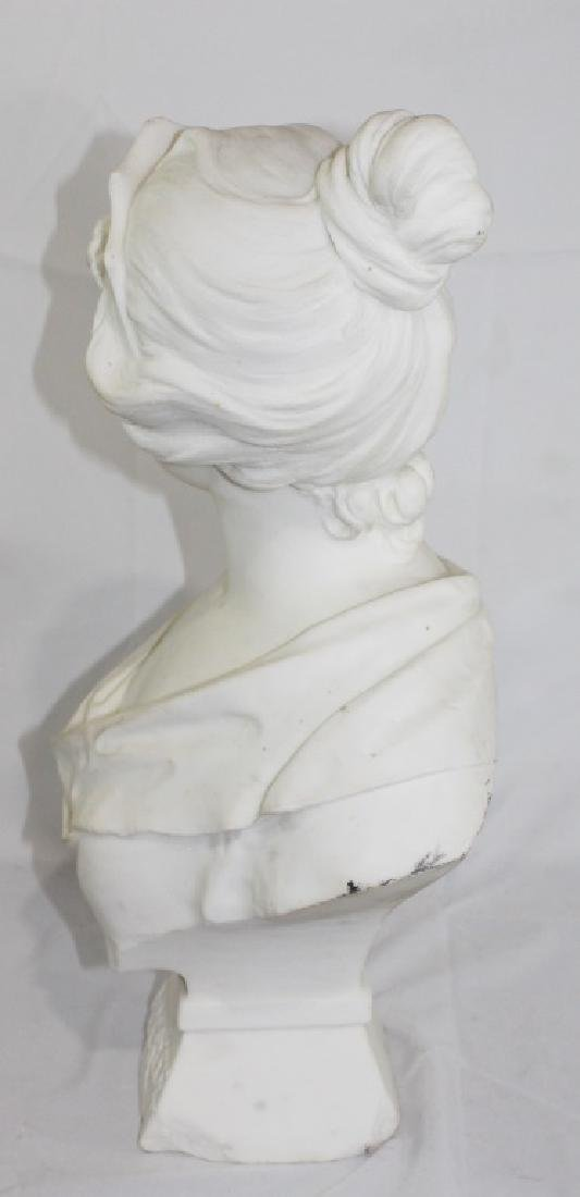 A. Piazza Carrara Signed Marble Bust of Lady - Lucrece - 7
