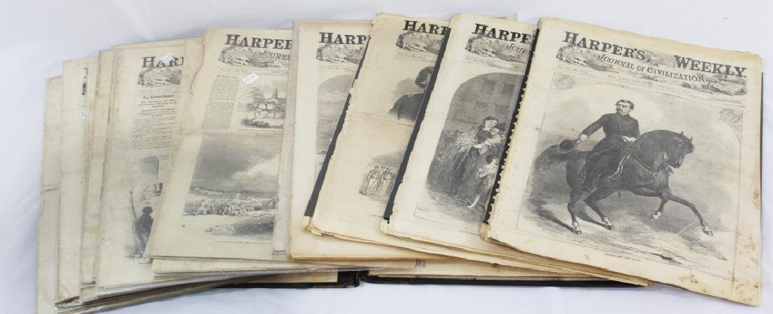 Lot of 21 Harpers Weekly - Journal of Civilization