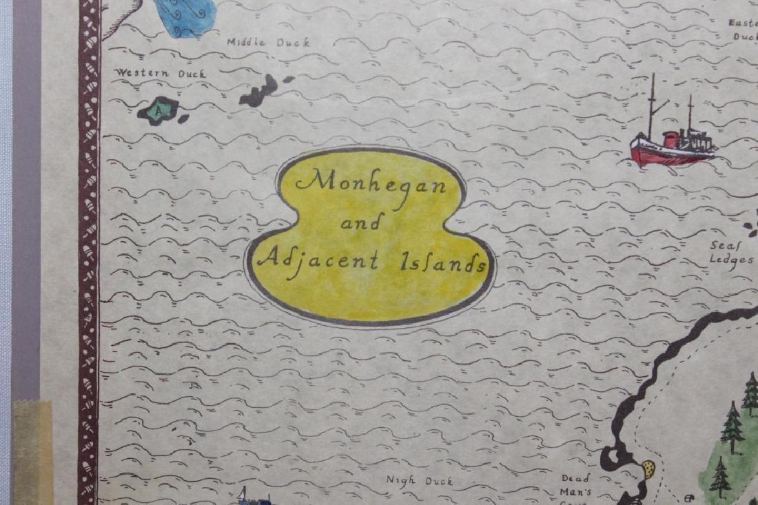 Hand colored Map - Monhegan & Adjacent Islands - 2