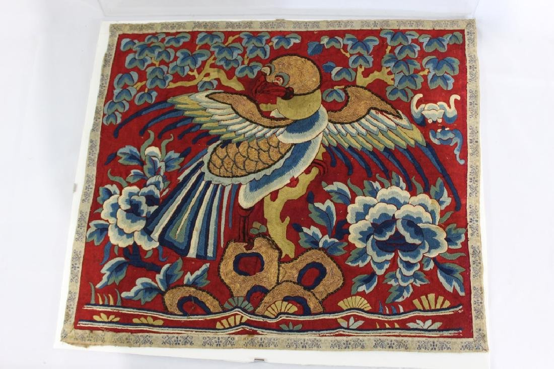 18th C./19th C. Asian Silk & Gold Pillow Cover?