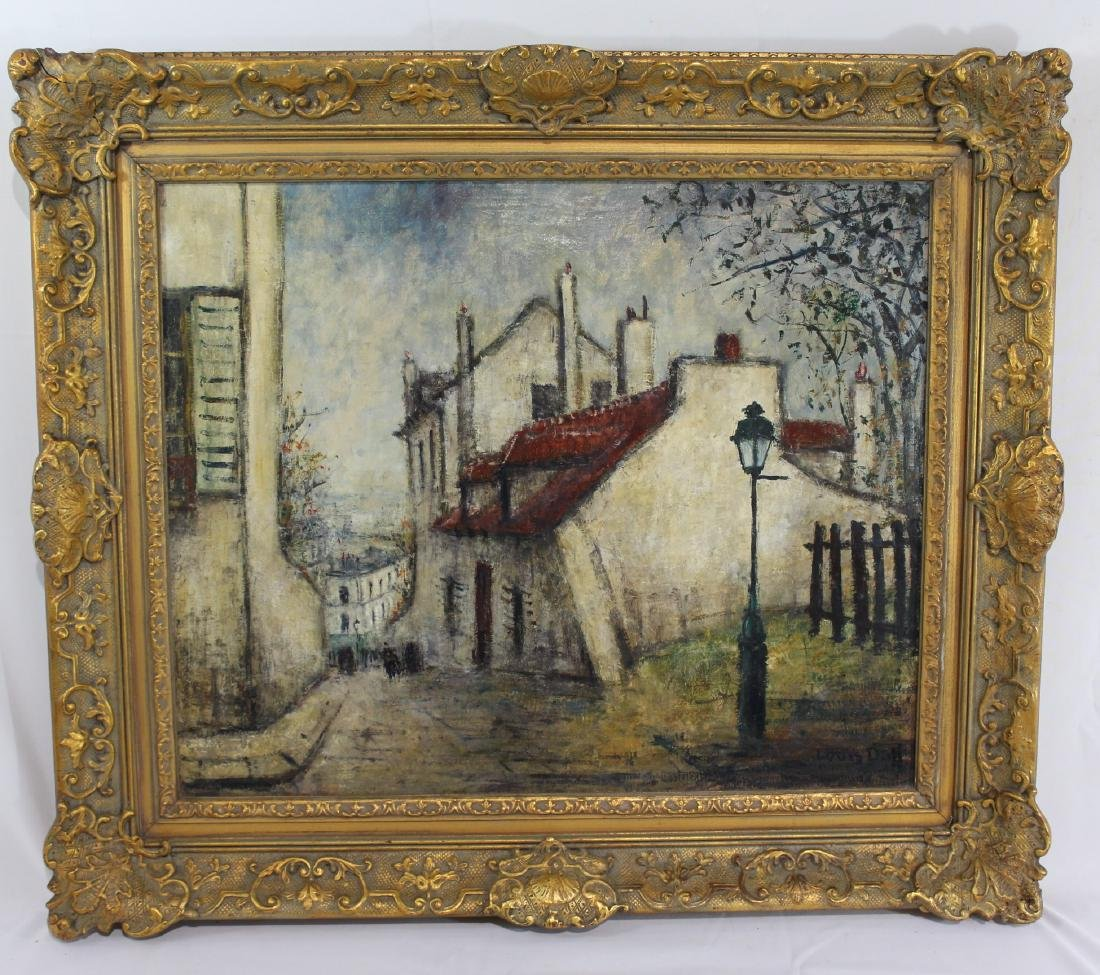 Louis Dali (1905-2001) - Paris Street Scene
