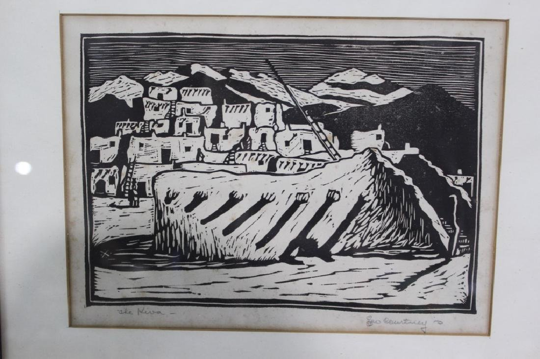 Leo Courtney (1890-1940) Pencil Signed Woodblock Pring - 2