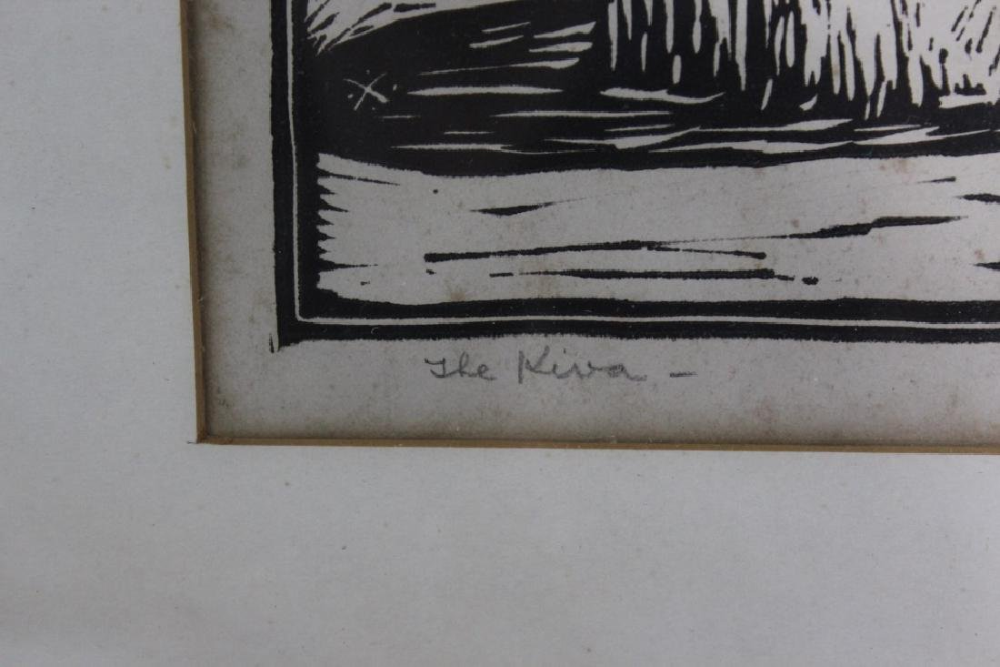 Leo Courtney (1890-1940) Pencil Signed Woodblock Pring - 3