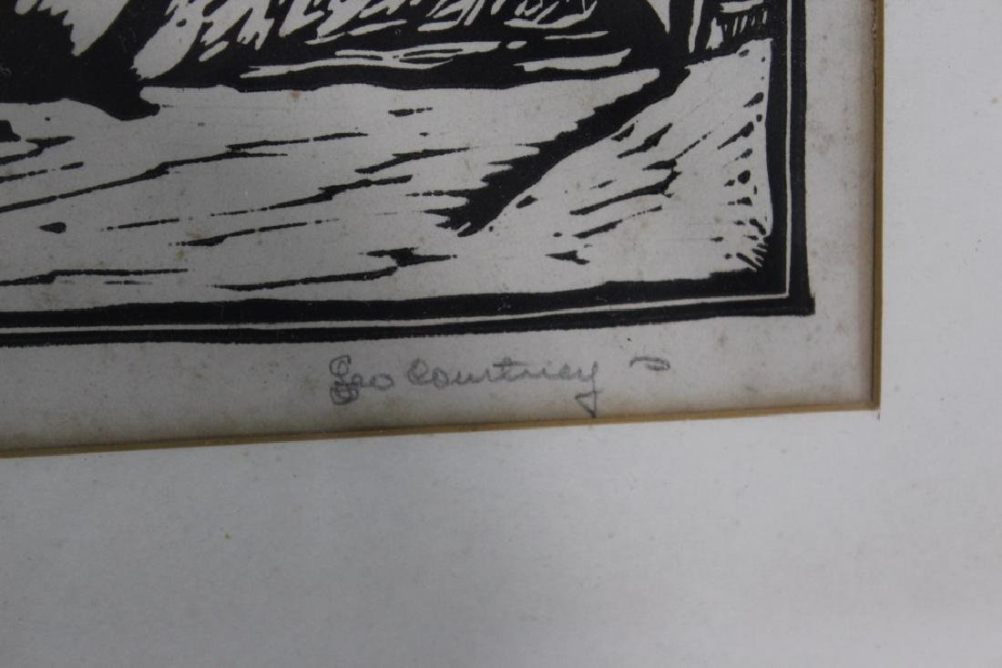 Leo Courtney (1890-1940) Pencil Signed Woodblock Pring - 4