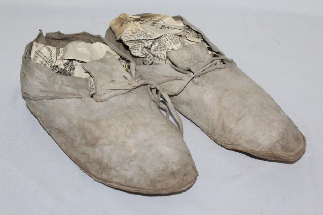 Early Taos Pueblo Mexico - Leather Moccasins