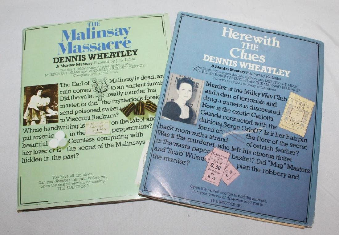 Pair of Dennis Wheatley - Mystery IN Dossier Form