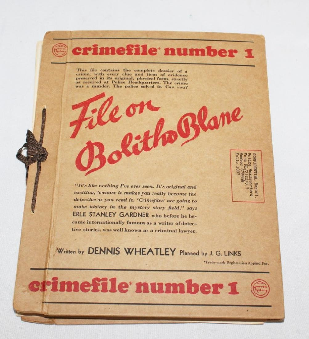 1937 - File on Rufus Ray - Crimefile number 2 - Mystery