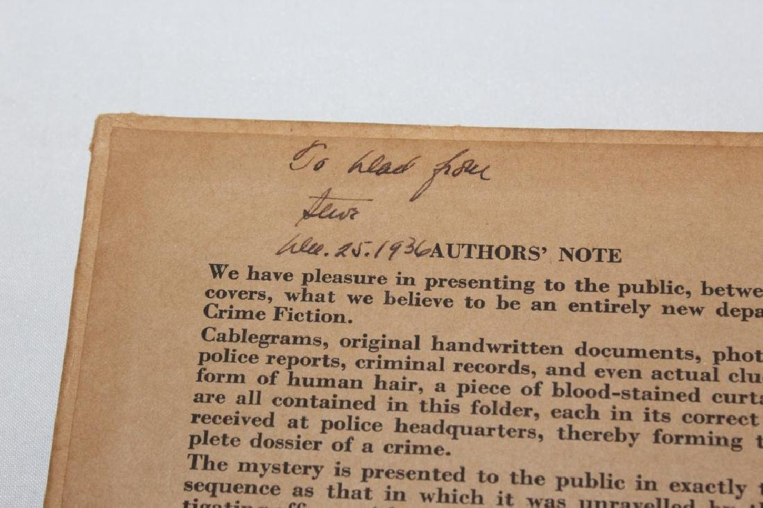 1937 - File on Rufus Ray - Crimefile number 2 - Mystery - 2