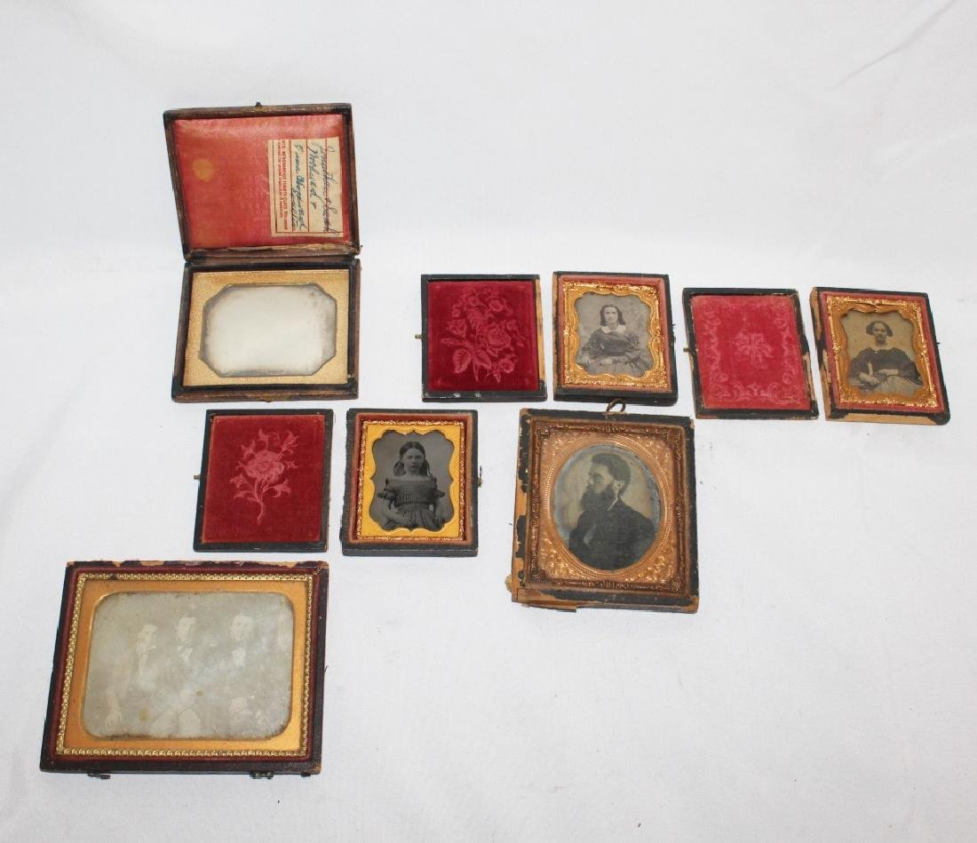 Lot of 6 Antique Tintypes