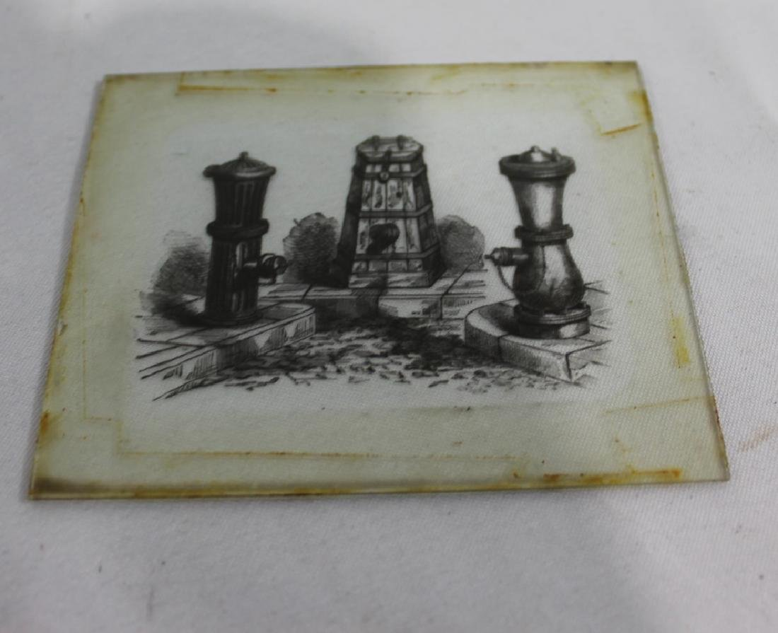Lot of 10 Glass Slides - Hand Tinted Glass Slides - - 3