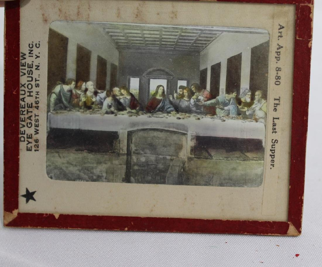 Lot of 10 Deveraux View Antique Glass Slides - 9