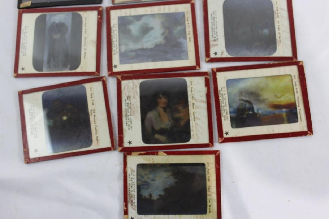 Lot of 13 Antiuqe Glass Slides - 3