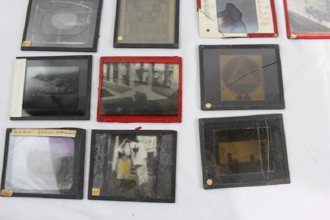 Lot of 14 Antique Glass Slides - as is - 3