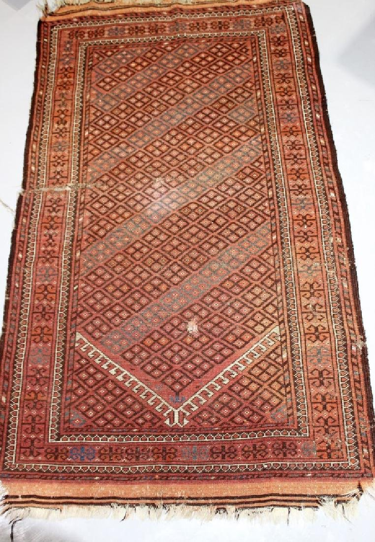 Antique Hand Woven Floor Rug - Middle Eastern?