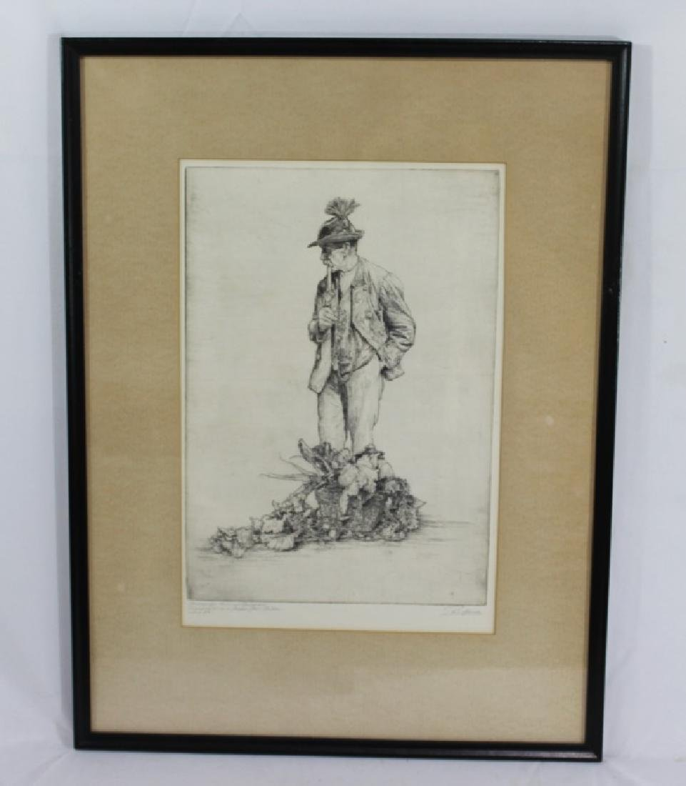 Paul Geissler (1881-1965) Signed Etching - German