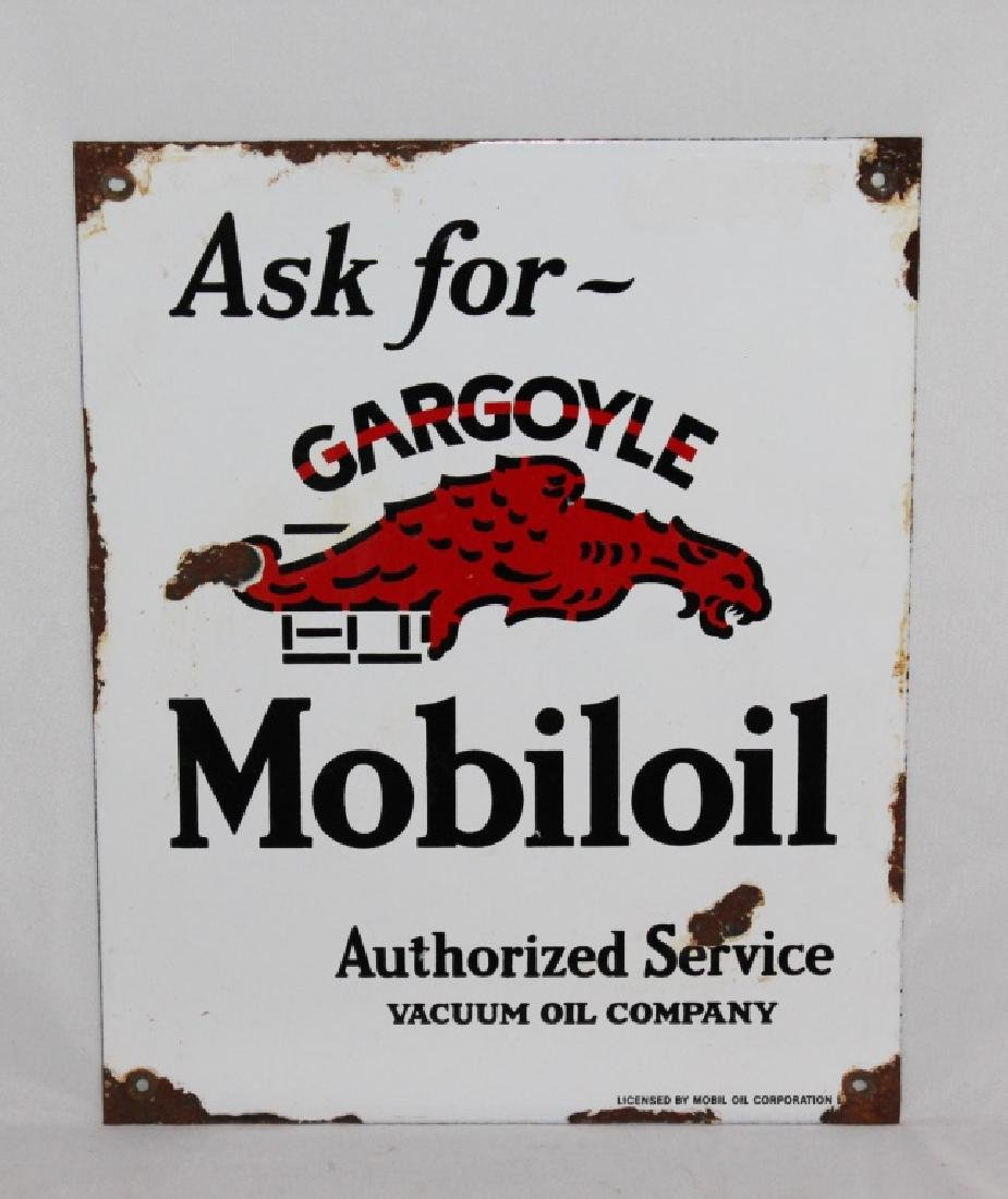 Gargoyle Mobiloil Porcelain Sign