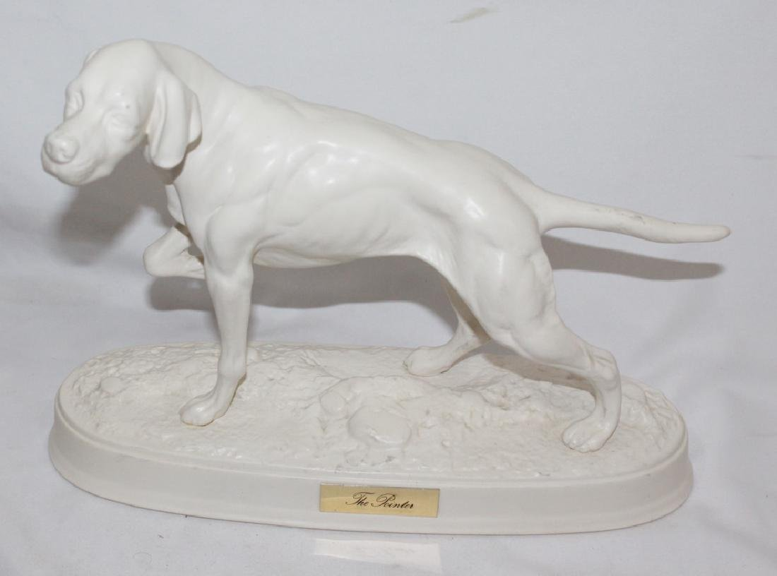 "Beswick England - White Ceramic ""The Pointer"""