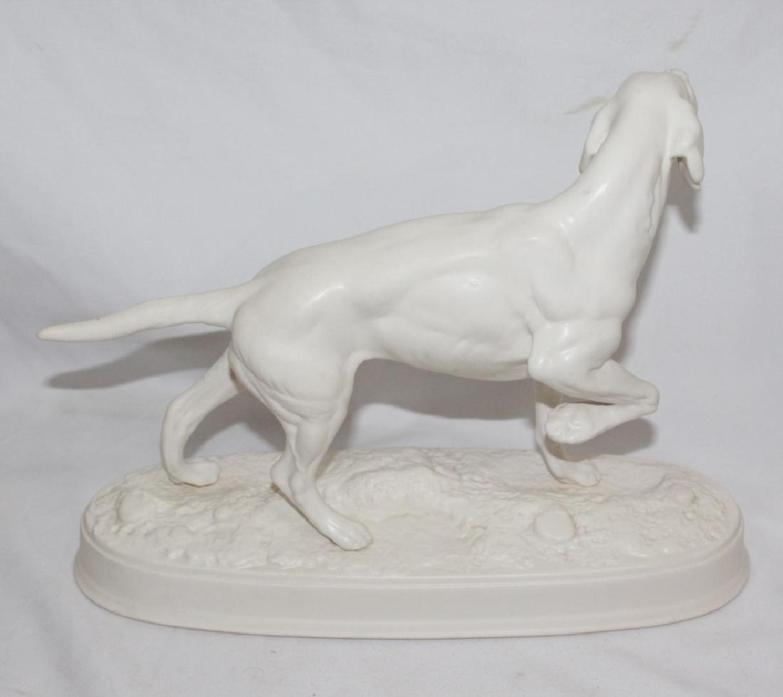 "Beswick England - White Ceramic ""The Pointer"" - 2"