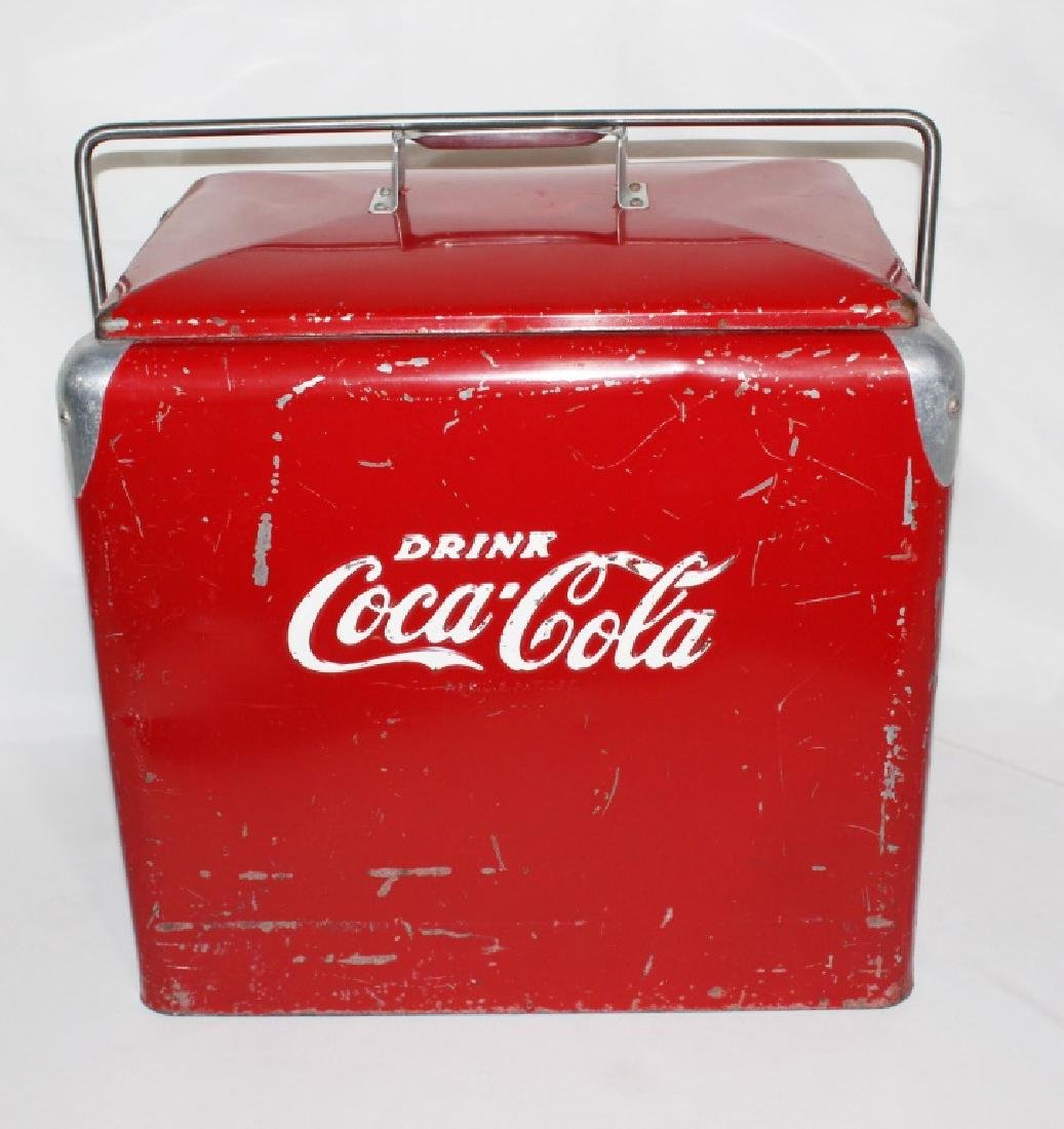 1950s Coca Cola Cooler - Progress Refrigerator Original - 3
